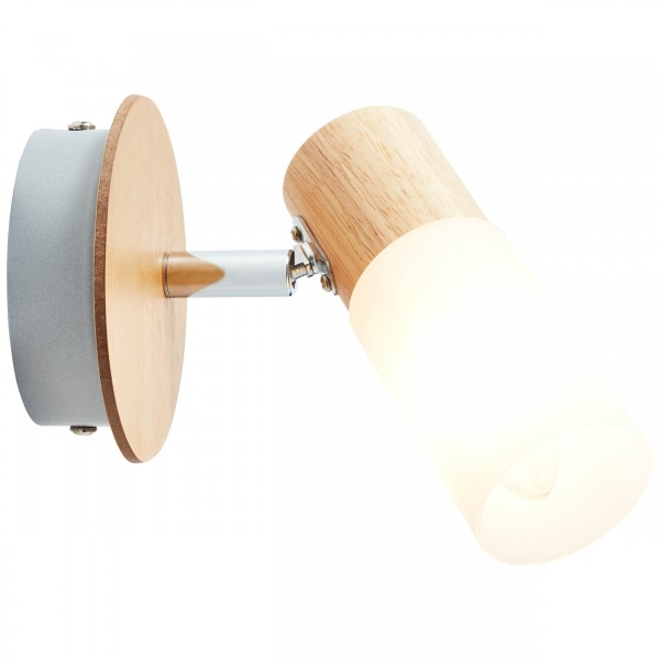 Brilliant 51410/50 Babsan Wandspot Metall/Holz/Kunststoff Lampe