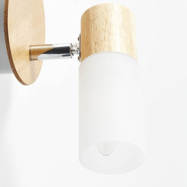 Brilliant 51410/50 Babsan Wandspot Metall/Holz/Kunststoff Stehlampe