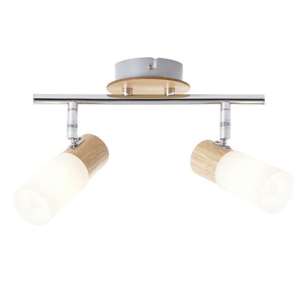 Brilliant 51413/50 Babsan Spotrohr, 2-flammig Metall/Holz/Kunststoff Leuchte