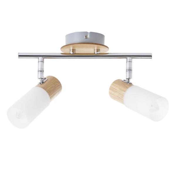 Brilliant 51413/50 Babsan Spotrohr, 2-flammig Metall/Holz/Kunststoff Beleuchtung