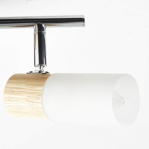 Brilliant 51413/50 Babsan Spotrohr, 2-flammig Metall/Holz/Kunststoff Stehlampe