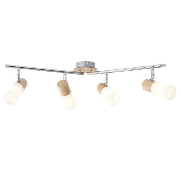 Brilliant 51432/50 Babsan Spotrohr, 4-flammig, drehbar Metall/Holz/Kunststoff Leuchte