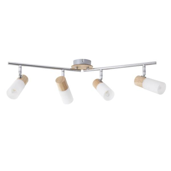 Brilliant 51432/50 Babsan Spotrohr, 4-flammig, drehbar Metall/Holz/Kunststoff Beleuchtung