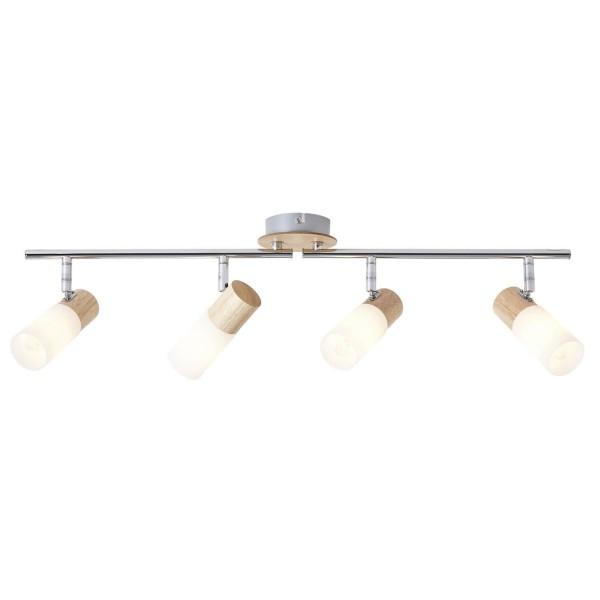 Brilliant 51432/50 Babsan Spotrohr, 4-flammig, drehbar Metall/Holz/Kunststoff Lampe