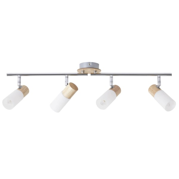 Brilliant 51432/50 Babsan Spotrohr, 4-flammig, drehbar Metall/Holz/Kunststoff Haengeleuchte