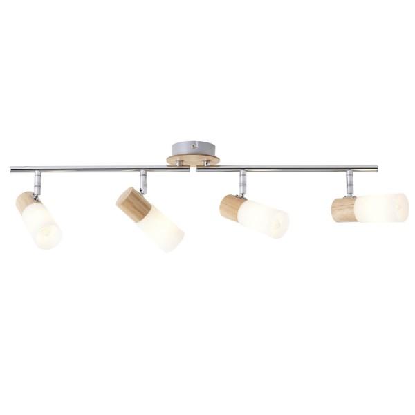 Brilliant 51432/50 Babsan Spotrohr, 4-flammig, drehbar Metall/Holz/Kunststoff Pendelleuchte