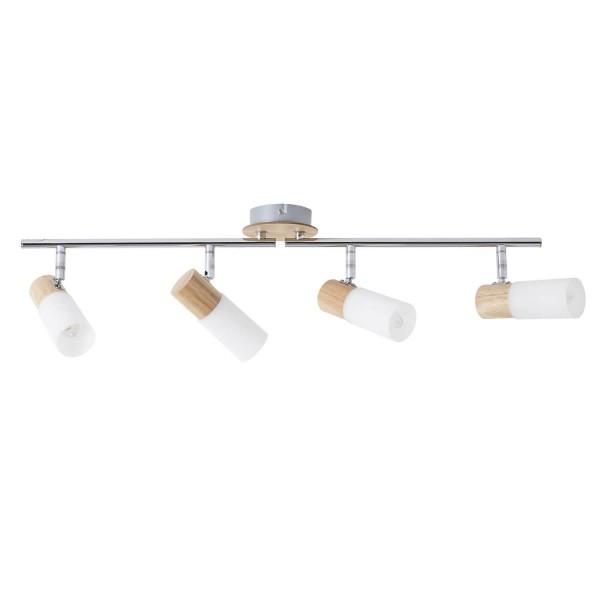 Brilliant 51432/50 Babsan Spotrohr, 4-flammig, drehbar Metall/Holz/Kunststoff Deckenleuchte