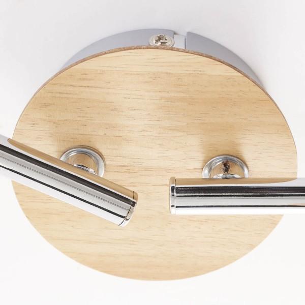 Brilliant 51432/50 Babsan Spotrohr, 4-flammig, drehbar Metall/Holz/Kunststoff Tischleuchte
