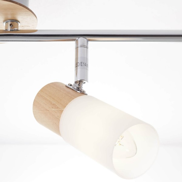 Brilliant 51432/50 Babsan Spotrohr, 4-flammig, drehbar Metall/Holz/Kunststoff Stehlampe