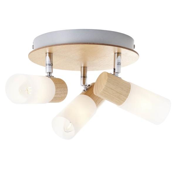 Brilliant 51434/50 Babsan Spotrondell, 3-flammig Metall/Holz/Kunststoff Lampe
