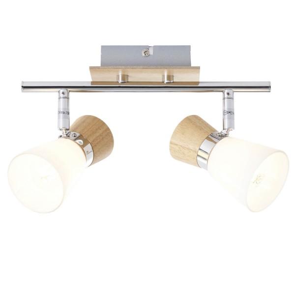Brilliant 56313/75 Nacolla Spotrohr, 2-flammig Metall/Holz/Kunststoff Leuchte