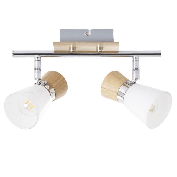 Brilliant 56313/75 Nacolla Spotrohr, 2-flammig Metall/Holz/Kunststoff Beleuchtung