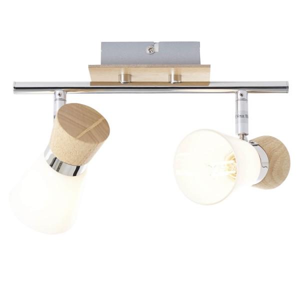 Brilliant 56313/75 Nacolla Spotrohr, 2-flammig Metall/Holz/Kunststoff Lampe