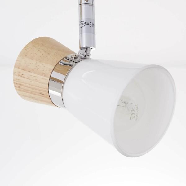 Brilliant 56313/75 Nacolla Spotrohr, 2-flammig Metall/Holz/Kunststoff Deckenleuchte
