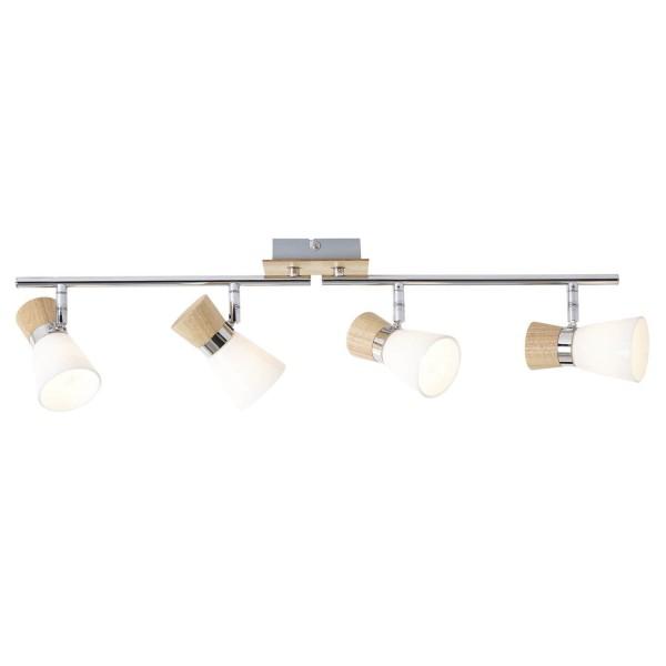 Brilliant 56332/75 Nacolla Spotrohr, 4-flammig, drehbar Metall/Holz/Kunststoff Leuchte