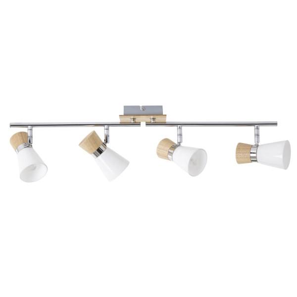 Brilliant 56332/75 Nacolla Spotrohr, 4-flammig, drehbar Metall/Holz/Kunststoff Beleuchtung