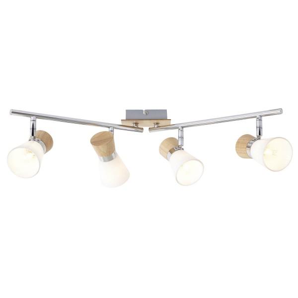 Brilliant 56332/75 Nacolla Spotrohr, 4-flammig, drehbar Metall/Holz/Kunststoff Lampe