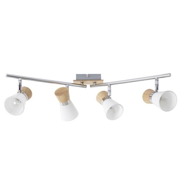 Brilliant 56332/75 Nacolla Spotrohr, 4-flammig, drehbar Metall/Holz/Kunststoff Haengeleuchte