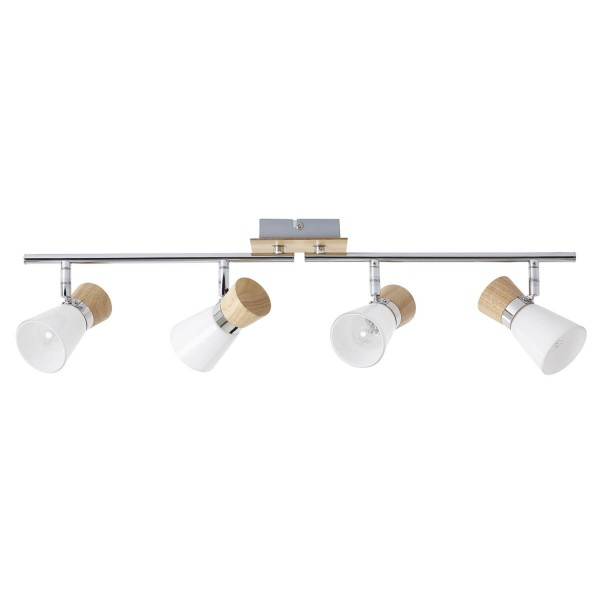 Brilliant 56332/75 Nacolla Spotrohr, 4-flammig, drehbar Metall/Holz/Kunststoff Deckenleuchte