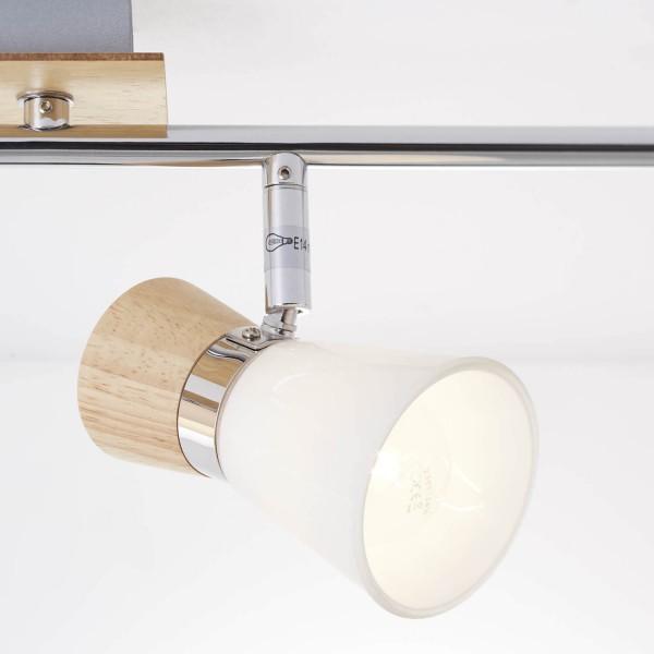 Brilliant 56332/75 Nacolla Spotrohr, 4-flammig, drehbar Metall/Holz/Kunststoff Tischleuchte