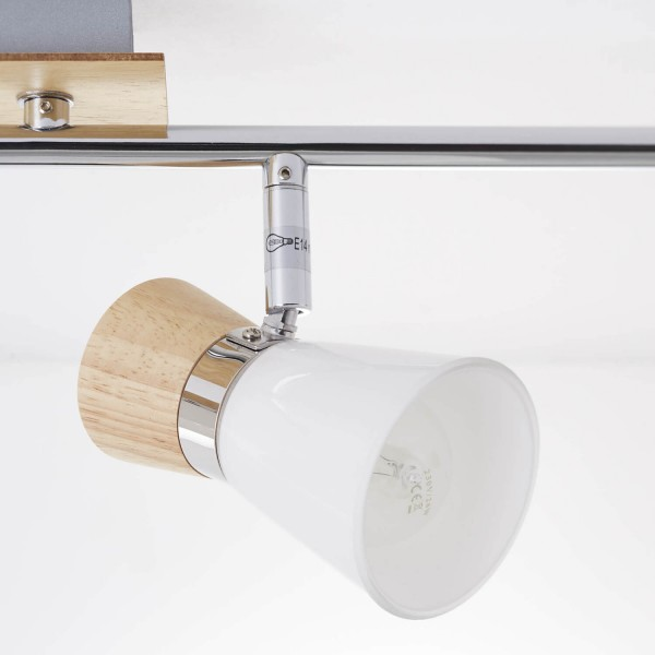 Brilliant 56332/75 Nacolla Spotrohr, 4-flammig, drehbar Metall/Holz/Kunststoff Stehlampe