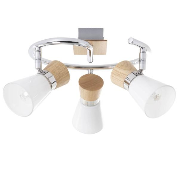 Brilliant 56333/75 Nacolla Spotspirale, 3-flammig Metall/Holz/Kunststoff Beleuchtung