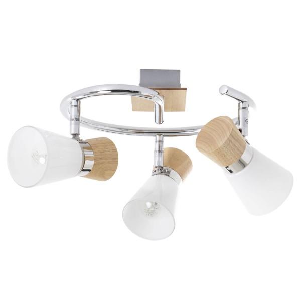 Brilliant 56333/75 Nacolla Spotspirale, 3-flammig Metall/Holz/Kunststoff Haengeleuchte