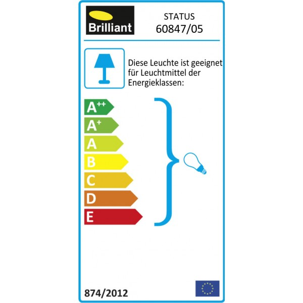 Brilliant 60847/05 Status Tischleuchte 35cm Kunststoff/Metall Lampe