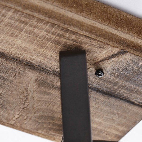 Brilliant 72029/84 Carmen Wood Spotbalken, 2-flammig Metall/Holz Lampe