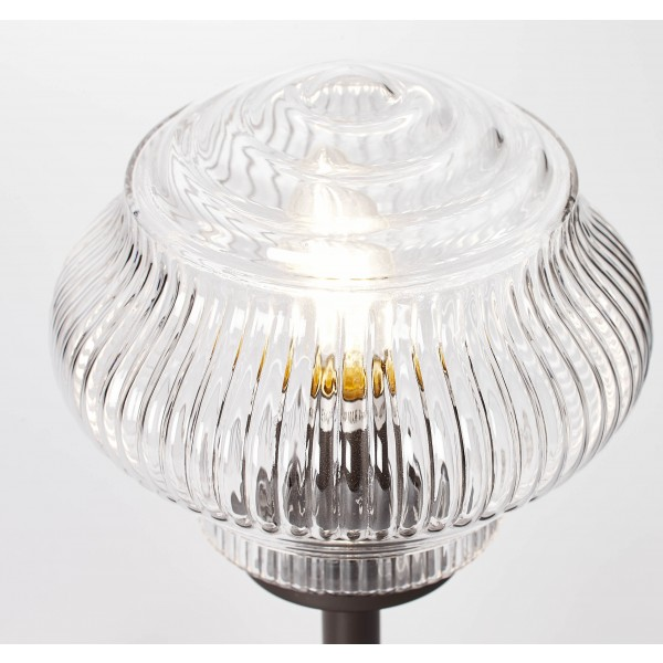 Brilliant 73247/20 Tanic Tischleuchte Glas/Metall Lampe