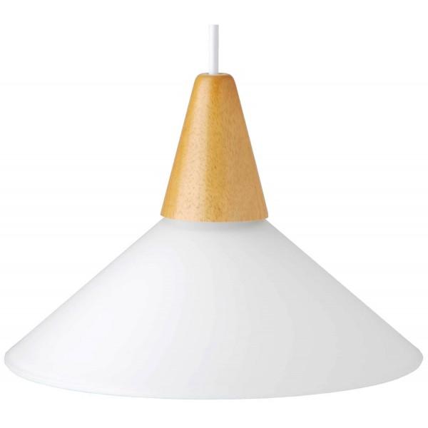Brilliant 74270/05 Pastell Pendelleuchte 24cm Glas/Holz Beleuchtung
