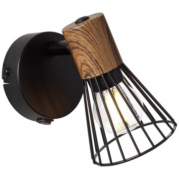 Brilliant 78111/76 Manama Wandspot mit Schalter Metall Lampe