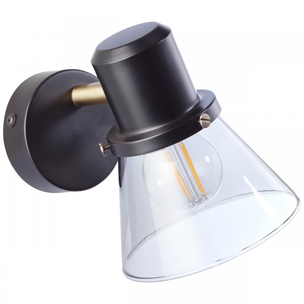 Brilliant 79310/93 Ronald Wandspot Metall/Glas Beleuchtung