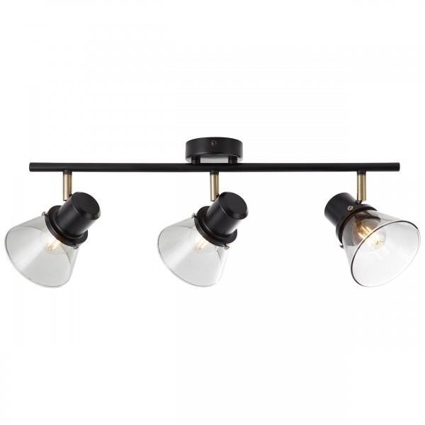 Brilliant 79316/93 Ronald Spotrohr, 3-flammig Metall/Glas Lampe
