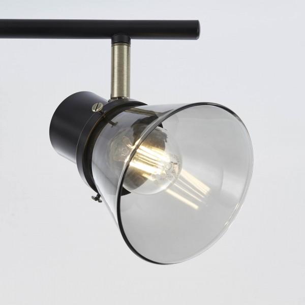Brilliant 79316/93 Ronald Spotrohr, 3-flammig Metall/Glas Pendelleuchte