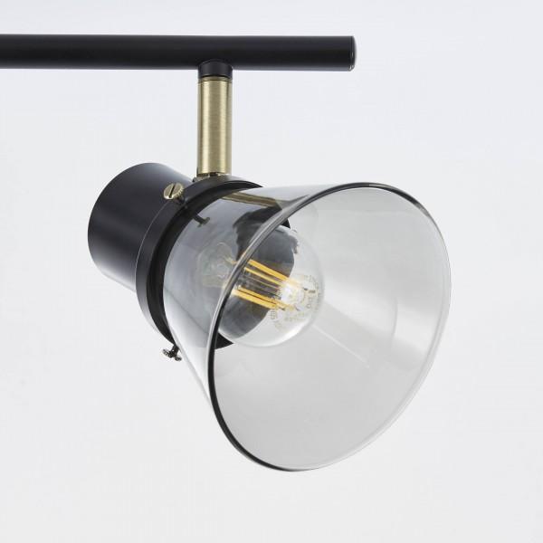 Brilliant 79316/93 Ronald Spotrohr, 3-flammig Metall/Glas Deckenleuchte