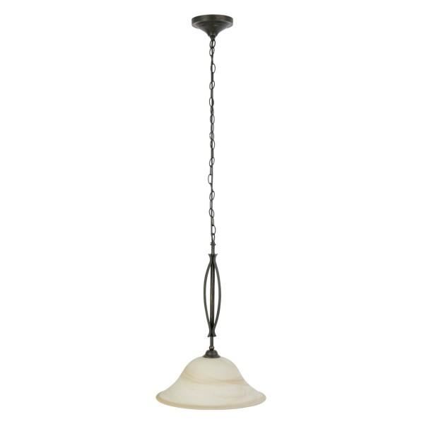 Brilliant 81970/58 Fiore Pendelleuchte 40cm Glas/Metall Leuchte