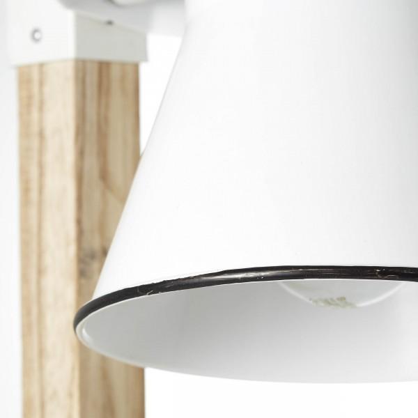 Brilliant 82149/05 Plow Tischleuchte Metall/Holz Stehlampe