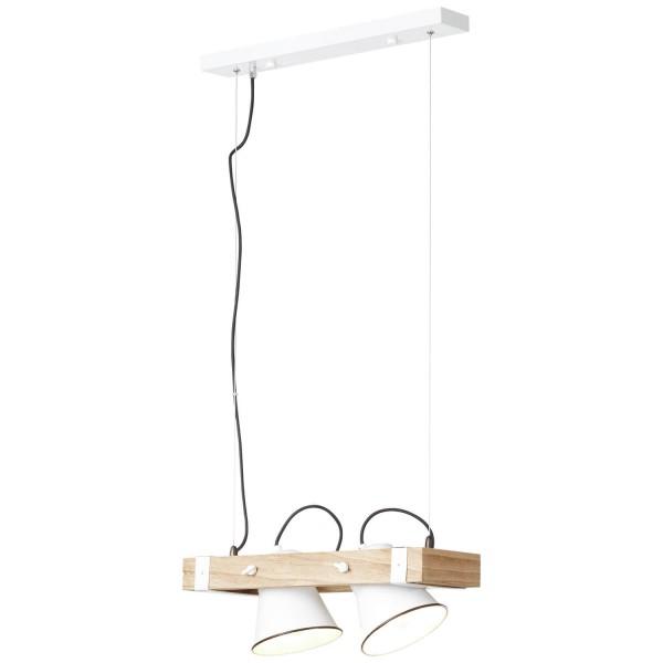 Brilliant 82172/05 Plow Pendelleuchte, 2-flammig Metall/Holz Lampe