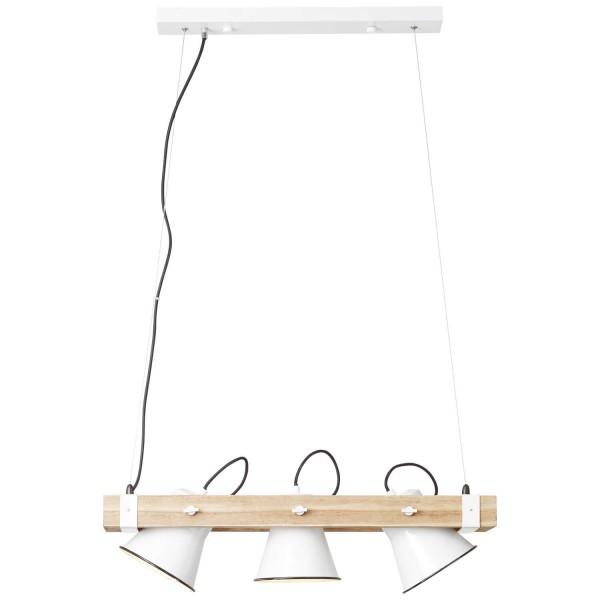 Brilliant 82173/05 Plow Pendelleuchte, 3-flammig Metall/Holz Lampe