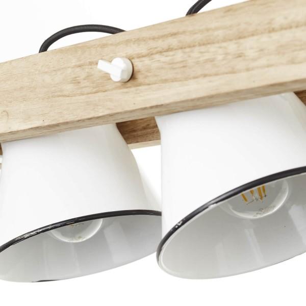 Brilliant 82173/05 Plow Pendelleuchte, 3-flammig Metall/Holz Stehlampe