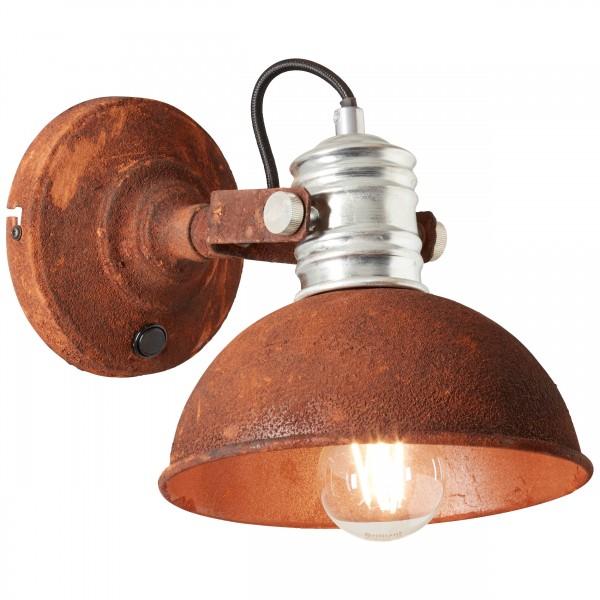 Brilliant 90111/60 Frieda Wandspot mit Schalter Metall Leuchte