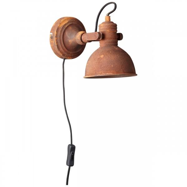 Brilliant 90230/60 Katie Wandspot mit Zuleitung und Schalter Metall Beleuchtung