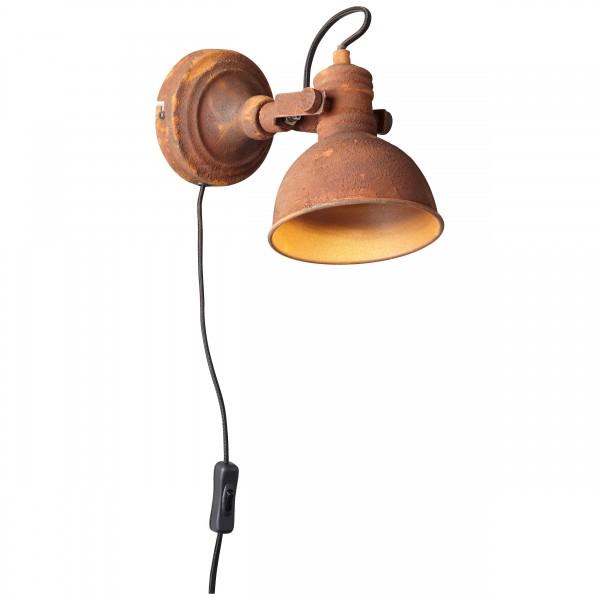 Brilliant 90230/60 Katie Wandspot mit Zuleitung und Schalter Metall Lampe