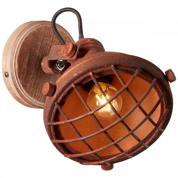 Brilliant 90262/55 Mila Wandspot Metall/Holz Lampe