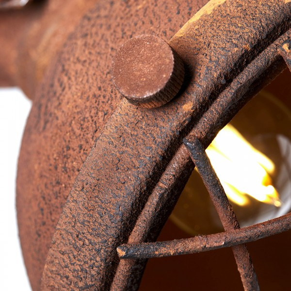 Brilliant 90262/55 Mila Wandspot Metall/Holz Tischleuchte