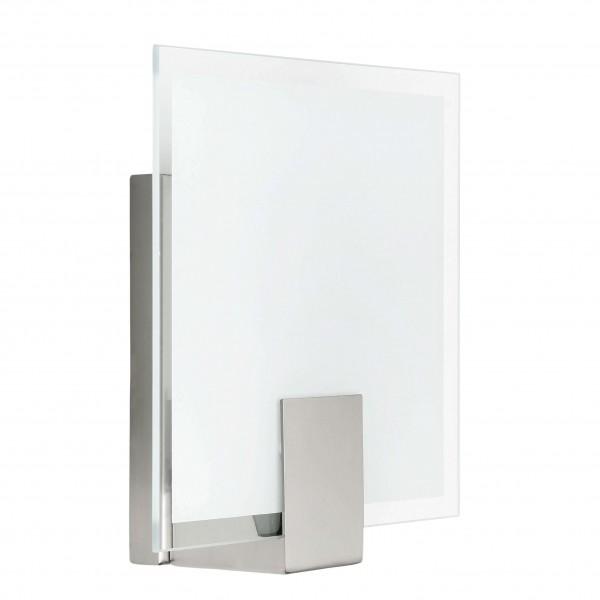 Brilliant 90324/13 Sonian Wandleuchte, quadratisch Glas/Metall Leuchte