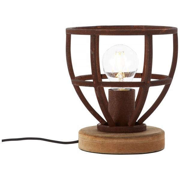 Brilliant 92610/55 Matrix Tischleuchte 18cm Metall/Holz Leuchte
