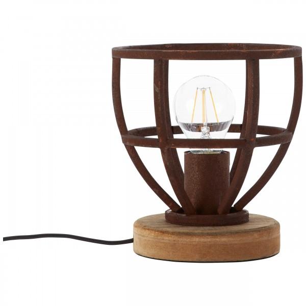 Brilliant 92610/55 Matrix Tischleuchte 18cm Metall/Holz Beleuchtung