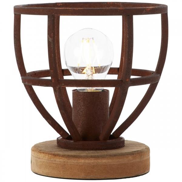 Brilliant 92610/55 Matrix Tischleuchte 18cm Metall/Holz Lampe
